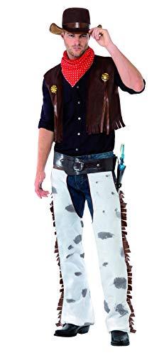 Smiffys 20471L Halloween! Smiffys Cowboy Kostüm, Braun, mit Weste, Cowboyhose, Halstuch & Hut
