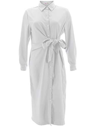 Shikha London 7152 damska sukienka koszuli do wiązania