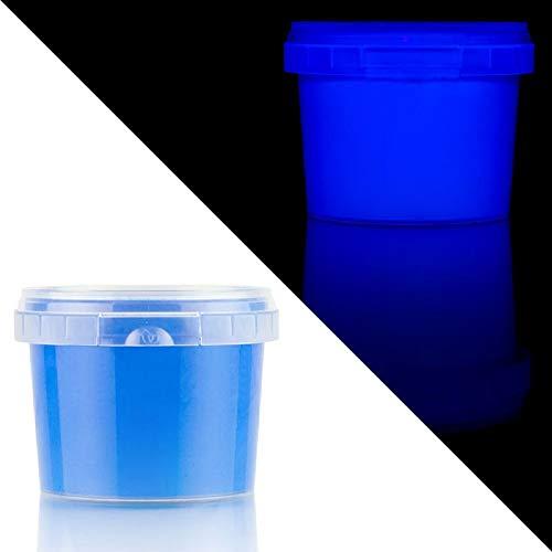 Neonfarbe UV Farbe Fluoreszierende Farbe Wasserbasis UV-Nachtfarbe für Tapeten, Papier, Kunststoff, Metall, Holz, Glas 100 grame blau