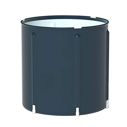 Plegable Bañera de Barril Del Baño de Tina de Baño de Adultos Inflable, Bañera Cubo de Plástico Grueso Ducha Portátil Bañera Plegable