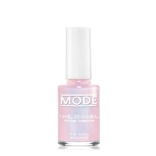 MODE Nail Enamel .50 FL OZ. (Sheer Mother of Pearl Pink with Violet Luster - Shade #118) Long Wear, High Gloss, Chip Resistant, Cruelty-Free/Vegan/Salon Nail Polish Formula - MADE IN BEAUTIFUL NY USA