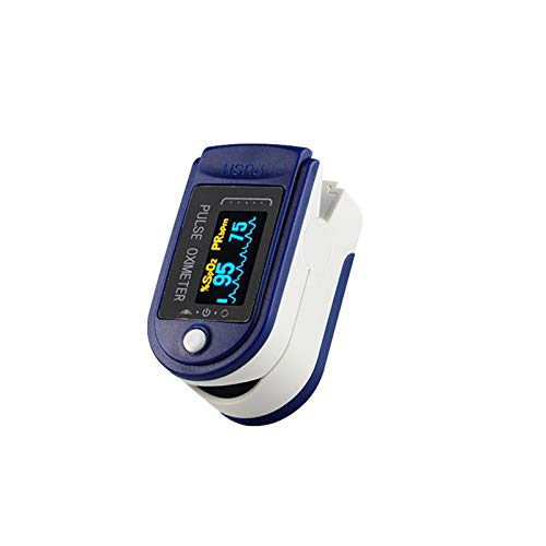 Finger Pulse_Oximeter_Fingertip_Hear_Rate Blood_Oxygen Measuring Digital Display Brightness Adjustable Automatic ShutDown for Home Travel Mountain Climbing Sports Fitness#86
