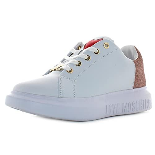 Love Moschino Sneakers Damen Weiß, Weiß, 40 EU