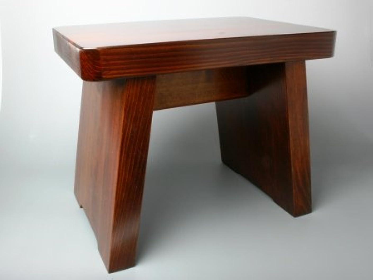 リネン黒くするモート木曽の桶屋 木曽漆塗り風呂椅子(大)