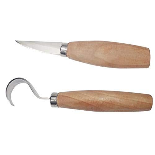 Lispeed Schälmesser Holz, Schnitzmesser Frost Schnitzwerkzeug Meißel Holzschnitzerei Messer Holzschnitzmesse (2 Stück)