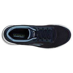 Skechers mens Gowalk 5 Qualify - Athletic Mesh Lace Up Performance Walking Shoe Sneaker, Navy, 9 US