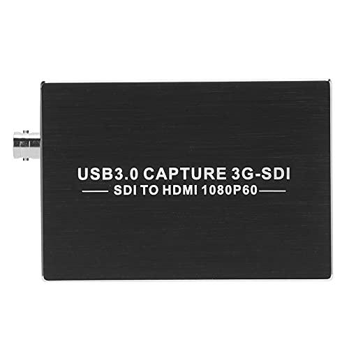 PUSOKEI Tarjeta de Captura de Video, USB 3.0 1080P SDI a HD Interfaz Multimedia Tarjeta de Captura de Video con Plug and Play, Dispositivo de Captura para computadoras portátiles