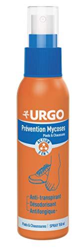 Urgo - Spray Pieds & Chaussures - Action 3 en 1 - Prévention Mycoses - 150 ml