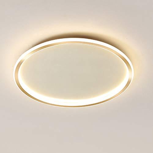 HE-XSHDTT Deckenleuchte, Licht für Badezimmer, mit Fernbedienung Für 40 cm Durchmesser 48 W, 50 cm Durchmesser 61 W, 60 cm Durchmesser 72 W, für Bett, Flur, Küche, Wohnen,Gold 40cm,48W