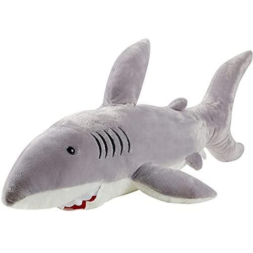 HPMM Tiger tiburón Peluche, Animal mimoso, Juguete de Peluche, Regalos para niños, (Color: a, Tamaño: 70 cm) (Color : A, Size : 80CM)