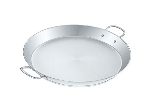 CONCORD Premium Stainless Steel Paella Pan with Heavy Duty Triply Bottom (18' (46 CM))