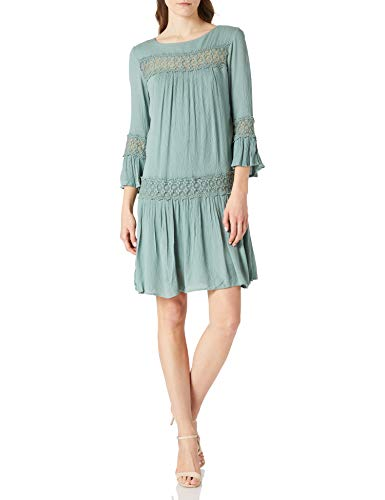 ONLY Damen Viskose Kleid ONLTyra Knielang 15142157 Chinois Green 38