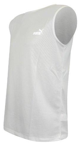 Puma Mens Poly Sport Vest Sleevless Top XL Blanc