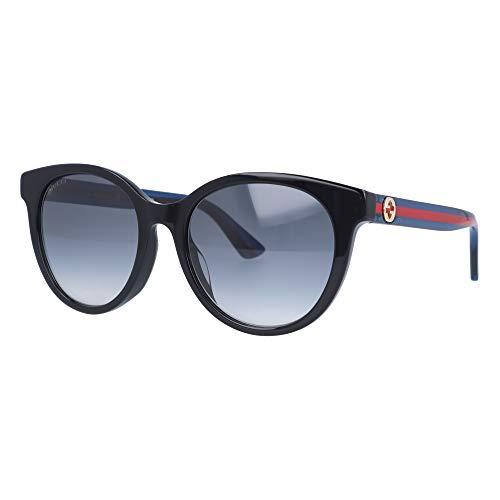 Gucci Occhiali da Sole GG0702SK BLACK BLUE RED/GREY SHADED 54/19/145 donna