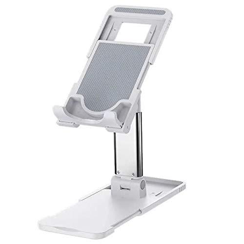 Kesio Soporte plegable ajustable para teléfono móvil, compatible con teléfonos iPad, Samsung Galaxy Tabs Kindle, color blanco