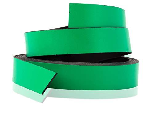 Magnastico Ruban magnétique de 10 mm de large Vert Ruban magnétique pour écrire des étagères Rouleau de 1 m