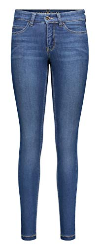 MAC Jeans Damen Dream Skinny Slim Jeans, Blau (Mid Blue D569), W36/L28