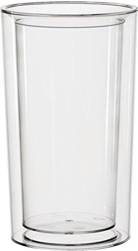 APS glacette - pure -, SAN, con a foratura universale, a doppia parete, diametro 13,5/10,5 cm, h: 23 cm