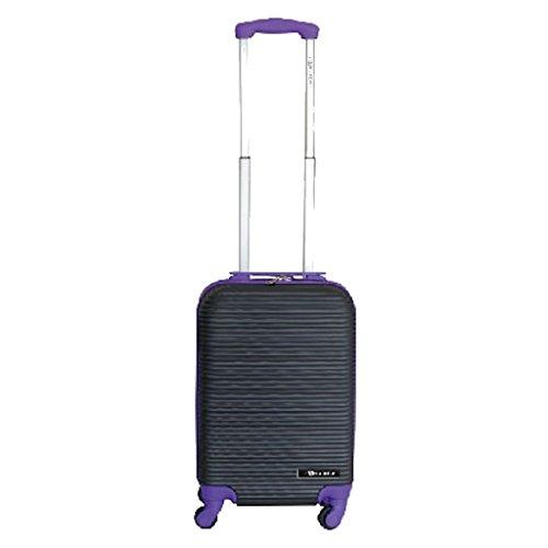 Leonardo Handbagage koffer duo-tone zwart / paars (DSS-DS40932)