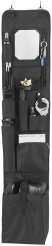 "EXPLORER LB1 Police Style Hanging Closet Door Organizer 11"" x 52""-Locker Org, Black"