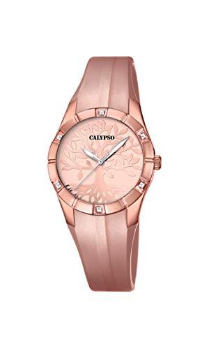 Calypso Reloj Analógico para Mujer de Cuarzo con Correa en plástico K5716/D