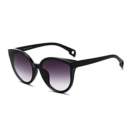 Gafas de Sol Gato Ojo Mujeres Hombres Gafas de Sol Eyewear Eyeaglasses Marco de plástico Lente Transparente UV400 Moda de Sombra conduciendo Nuevo (Lenses Color : C4)