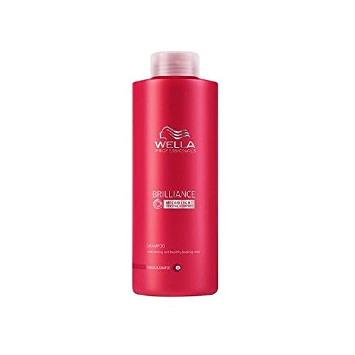 ブロンズクレデンシャルジュニアウェラの専門家は粗いシャンプー(千ミリリットル)をブリリアンス x4 - Wella Professionals Brilliance Coarse Shampoo (1000ml) (Pack of 4) [並行輸入品]