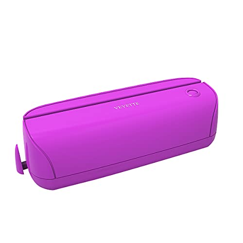 Electric 3 Hole Paper Punch, VEYETTE Paper Puncher with Adapter for Office School Studio, 20 Sheet Capacity, AC or Battery Purple