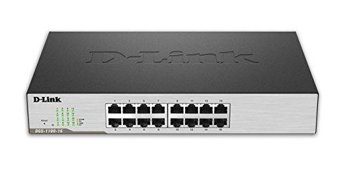 D-Link DGS-1100-16 - Switch Smart Gigabit 16 Puertos, VLAN automática, gestión SNMP