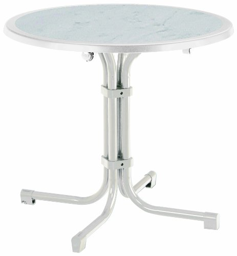 BEST 26538000 Tisch Boulevard rund, Durchmesser 80 cm, weiß