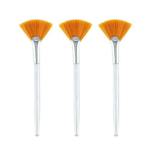 KINIFE 3 Pcs Facial Brushes Fan Mask Brush Applicator Brushes for Peel and Mask