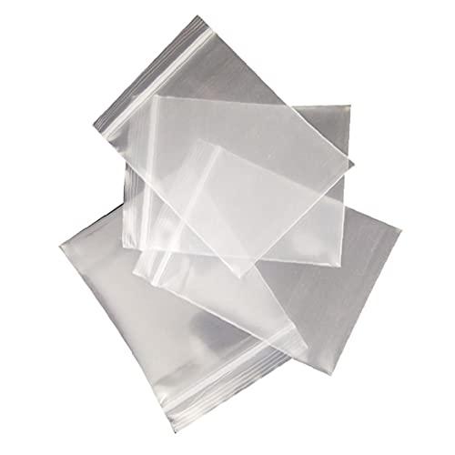 Tuimiyisou Zip Lock Bolsa de plástico Transparente joyería Ziplock Bolsa de plástico Puede Volver a Cerrar Poli Bolsos claros Pequeño Embalaje Bolsita (15 * 25 cm) 100 Piezas