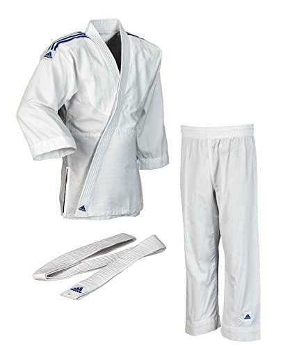 adidas Traje de judo para niños Evolution (incl. cinturón), blanco, 100/110, J250E
