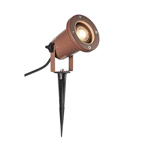 SLV Foco LED Nautilus XL con estaca para la iluminación de jardín, terraza, plantas, caminos, estanques | lámpara exterior | IP65, GU10, cable de 1,5 m con enchufe, aluminio