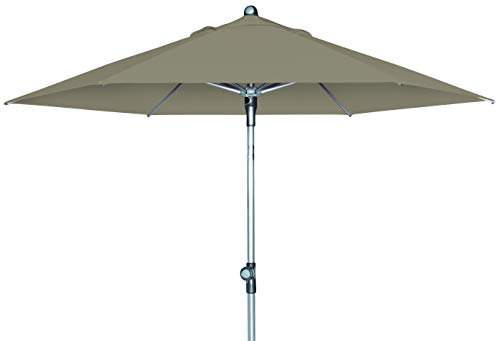 Doppler Push Up Sonnenschirm SL-AZ 220 - Ideal für den Balkon oder Garten - ca. 220 cm - Knickbar - Greige-Taupe 416579846AZ