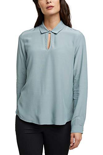 ESPRIT Collection Damen 100EO1F309 Bluse, 420/GREY Blue, 40