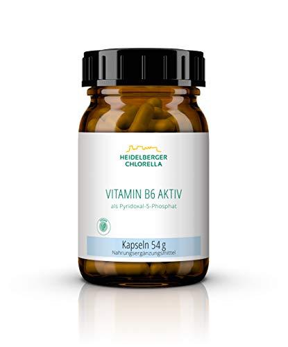 Heidelberger Chlorella Vitamin B6 aktiv (P5P) Kapseln, aktives Vitamin B6 als Pyridoxal-5-phosphat, vegan, 120 Kapseln, 54 g