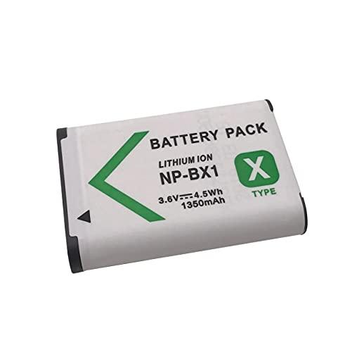Batteria conveniente da 3,6 V 1350 mAh NP-BX1 NP BX1 Compatibile con Sony DSC RX1 RX100 M3 M2 RX1R GWP88 PJ240E AS15 WX350 WX300 HX300 HCompatibile con X400 ( Color : White , Size : China )