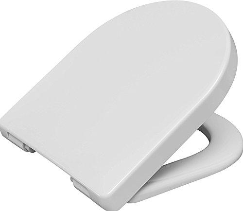 Haro Bacan WC-Sitz weiss mit Scharnier Klappdübel C4602G für Villeroy & Boch Subway sowie auf Laufen Pro neu und spülrandlos