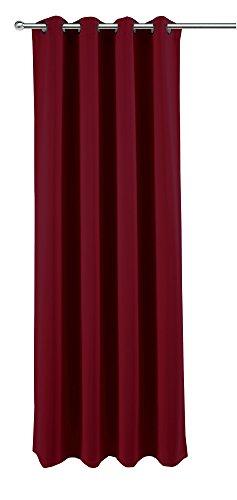 Verduisteringsgordijn voor huis en decoratie, ca. 140x245 cm oogjes gordijn halfdonker ondoorzichtig gordijn gemêleerd kleurkeuze modern ca. 140x245 cm bordeaux