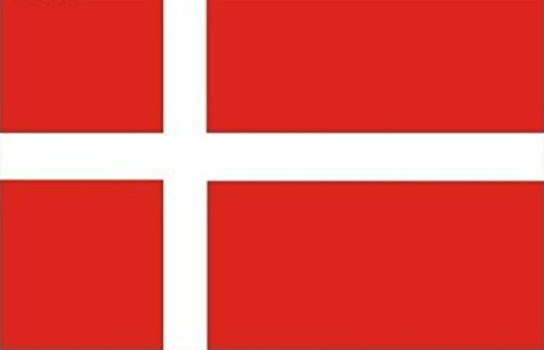 Bandera de Dinamarca Bandera de poliéster DE 5 * 3 pies/150 * 90 cm Ideal para Exteriores e Interiores Bandera danesa Grande