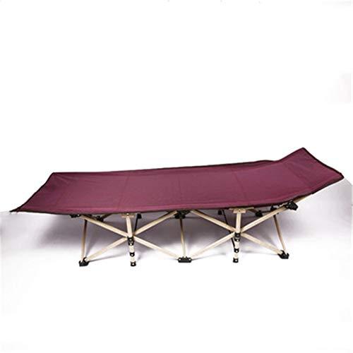 QuRRong Cama de Camping Cuna Plegable Cuna Soltera Pequeña Cama de colapso Cuna Desmontable Cuna Compacto Cama Plegable para Mochileros y Viajes (Color : Red, Size : 190×75cm)