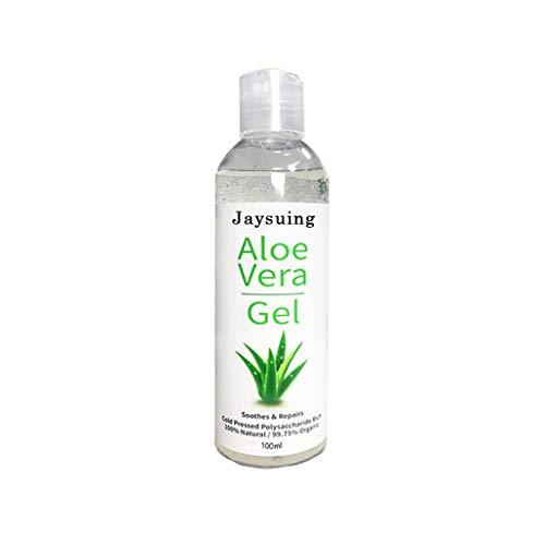 Jchen Organic Pure Aloe Vera Gel, Aloe Vera Moisturizing Gel for Face, Hydrating Skin Soothing Gel Aloe After Sun for Sunburn Relief, Aloe Gel Best for Face, Hair (Multicolor)