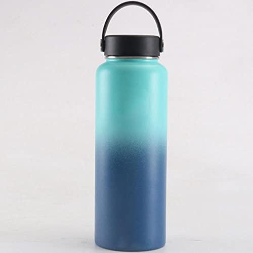 Botella de agua Hydro Frasco Botella de agua de acero inoxidable con aislamiento al vacío Botella térmica portátil de viaje de boca ancha 32oz / 40oz-Estados Unidos, 40oz, Gradiente 6