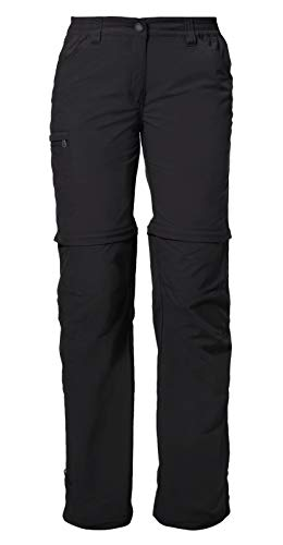 VAUDE Damen Hose Women\'s Farley ZO Pants IV, black, 46, 038730100460