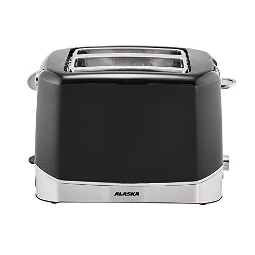 ALASKA Toaster TA 2204 | 2 Scheiben | Auftaufunktion | Aufbackfunktion | Unterbrechungsfunktion | elektrische Röstgradkontrolle | Krümelschublade | Brötchen Röstaufsatz