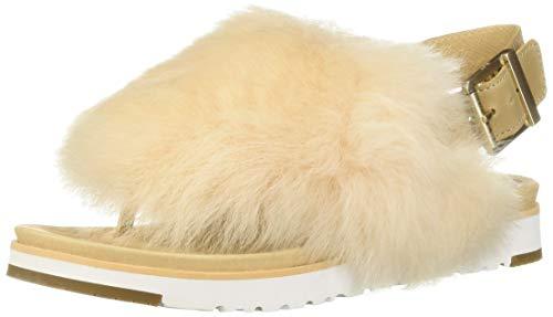 UGG Women's Holly Flat Sandal, Soft Ochre, 6.5 M US