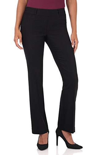 Rekucci Women's Ease in to Comfort Fit Barely Bootcut Stretch Pants (16,Black Bubble) (Keela Scuffer Trousers Best Price)