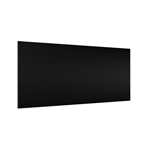 Bilderwelten Crédence en Verre - Colour Black - Paysage 1:2, Peinture Murale revetement Mural Cuisine dosseret de Cuisine Impression sur Verre Fond de Cuisine, Dimension: 59cm x 120cm