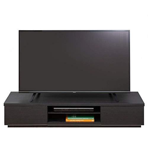【32-65V型推奨】 アイリスオーヤマ テレビ台 テレビボード ローボード 幅150cm 奥行38.8cm 高さ28.2cm 32型 43型 ブラックオーク 扉付 組み立て 耐荷重40kg BAB-150